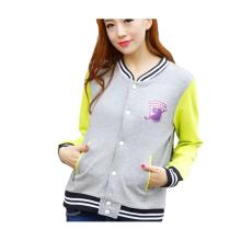 Womens Custom Cute Trendy Stickerei Design Varsity Jacken