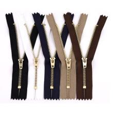 Factory Cheap #3 zipper metal brass jeans zip metal teeth zipper roll men