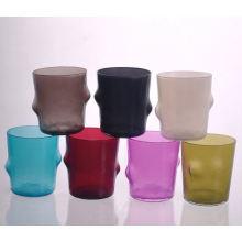 Mundgeblasenes kleines Glas-Cadle-Glas für Hauptdekorationen