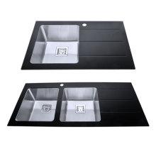 Скамейка двойная раковина нержавеющей стали раковины ванной комнаты