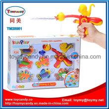 Kinder Cartoon Tier Wasser Spray und Angeln Spiel Spielzeug-Set