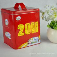 Boîte en étain carrée, petite boîte en étain carrée, conteneurs carrés d'étain