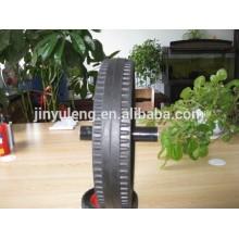 """Ruedas de goma maciza de 15 """"x3 para remolque pesado / máquina industrial"""