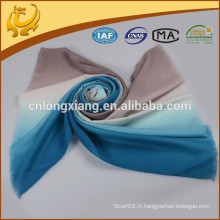 2015 New Fashion Highly Warn Dyed Wide 100% Foulard en laine Ombre pour Lady