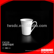 new arrival durable super white airline porcelain coffee mug set