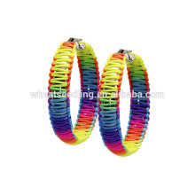 handmade craft hotsale girls mixed style color new hanging round earring designs