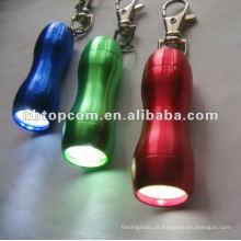 3 lanterna led chaveiro