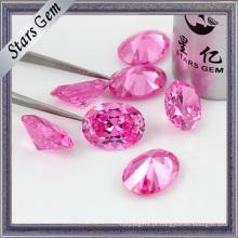 Linda qualidade superior requintado rosa tamanho grande zircônia cúbica