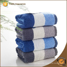 100% cotton Yarn dyed striped blue and white bath towel