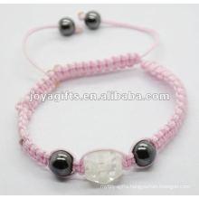 2012 beat jewellery ,handmade woven shamballa crystal balls bracelet