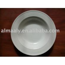 Высококачественная тисненая фарфоровая тарелка керамическая плита