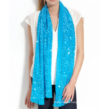 15JW108 glitter silk cashmere shawl with sequin