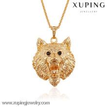 Xuping bijoux cool lion en forme de pendentif animal plaqué or