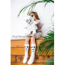 Estilo de modelo Beatiful Girl Cotton Stocking