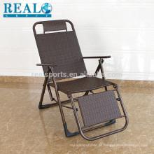 Cadeira de vime de moda cadeira de praia de mobiliário de jardim ao ar livre