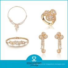 Sterling Silber Frauen Hochzeit Armreifen und Halskette (J-0047)