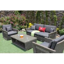 Juego de sofá de poli rattan PE para muebles de jardín al aire libre de Vietnam