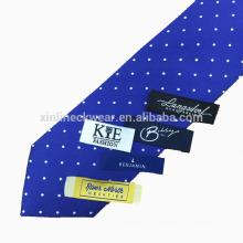 Etiqueta de corbata tejida privada de alta calidad