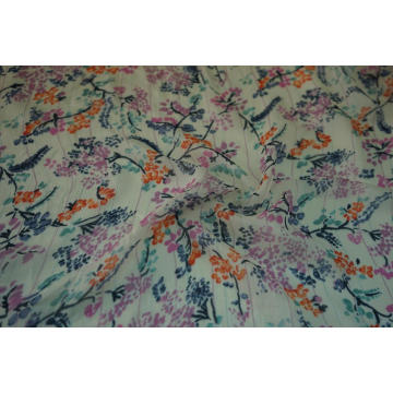 Tecido Estampado Fino Flowing 50D Georgette Viscose