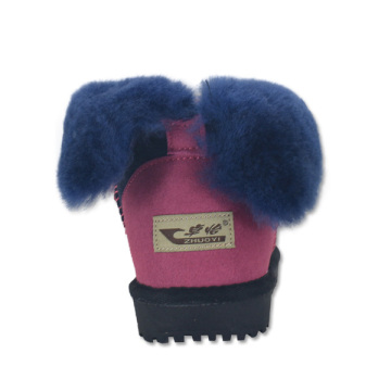 women's fuzzy warm winter leather genuine house boots