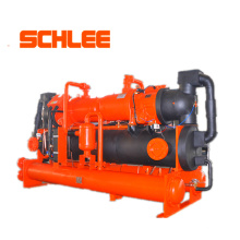 710kw Industrial Double Compressors Water Cooled Screw Chille