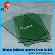 Vidrio de flotador verde de 5 mm F / Vidrio tintado con ISO