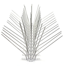 Bendable bird barb 50cm+pp base 60 barb 304 stainless steel bird spikes cat barb