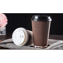 Disposable Coffee Cup with Lid Thick Corrugated Cup with Hot Drink Cup, Can Be Customized