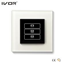 1 Gang Vorhang Schalter Glas Rahmen (HR1000-GL-CT (AC1))