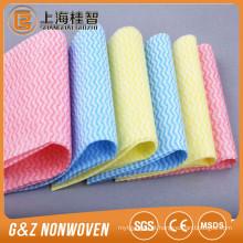 bom preço acenou tecido spunlace impresso não tecido (rolo de material e perfurado)