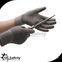 SRSAFETY 13 Ga Grey Нейлон с покрытием PU рабочая перчатка