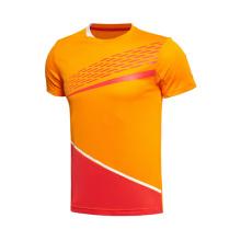 Großhandel Coolmax Dry Fit Zwei-Knochen Fitness Round Neck Großhandel Gym 100% Polyester T-Shirt für Männer