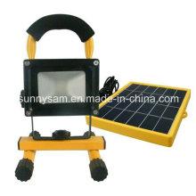 Lumière d'inondation solaire rechargeable portative élevée de Qualtiy LED