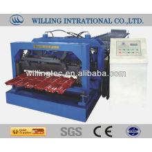 Alibaba качество продукции глазурованной металлической черепицы рулон формируя машину для структуры