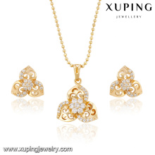 63831-xuping wholesale fashion earring and pendant jewelry set in latest design