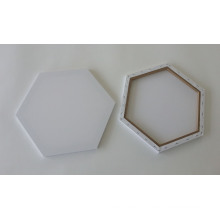 Blank Stretched Canvas in Hexagonal Shape