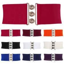 Grace Karin Women Ladies Girls Fashion Wide Metal Hook Stretchy Elastic Waist Belt Waistband CL008962
