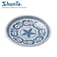 "Melamine Modern Blue Tableware 12""Round Plate (DC13807-12)"