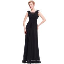 Starzz Full Length Backless Sleeveless Black Chiffon Long Evening Gowns Dress 2016 ST000074-1