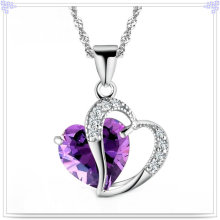 Crystal Pendant Necklace 925 Sterling Silver Jewelry (NC0010)