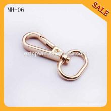 MH06 Fashion gold metal dog buckle adjust lanyard snap hook, mini snap hook