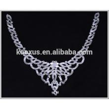 Moda cristal rhinestone applique remendo bordado para colar vestido de noiva