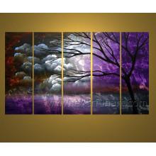 Hecho a mano Decoración de la pared Árbol del paisaje Pintura al óleo