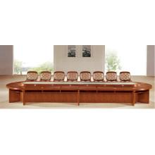 Mesa de sala de conferencia de madera antigua modificada para requisitos particulares larga oval de la sala de estar con la silla