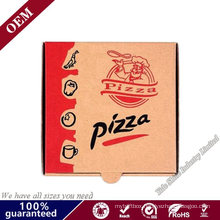 Custom Design Food Box Corrugated Paper Brown Pizza Box