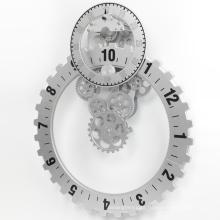 No.3 Big Silver Gear Wall Clock