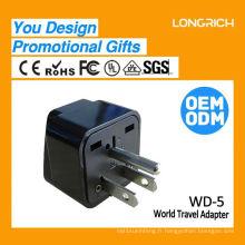 Multifonctionnel Travel Plug double prise européenne, la plus récente prise usb ce rohs approuvée