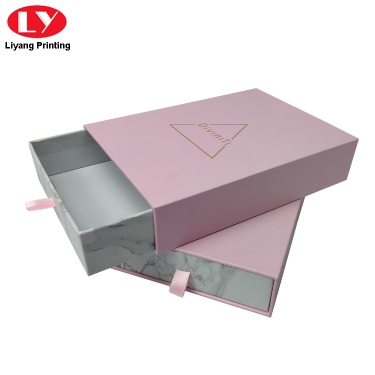 Pink Marble Jewelry Box