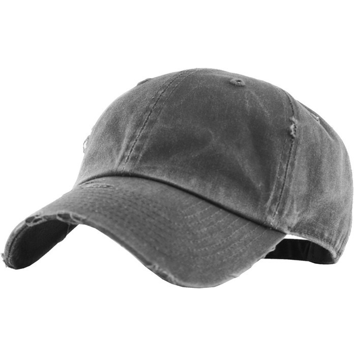 Wholesale Solid Blank Distressed Baseball Cap Washed 4