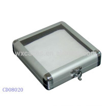 20 CD disks aluminum DVD box with a clear acrylic top wholesales from China manufacturer